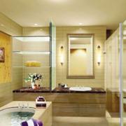 2016时尚精致的大户型欧式洗手间装修效果图