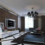 后现代风格印花电视背景墙装饰