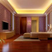 2016大户型欧式唯美卧室床头背景墙装修效果图
