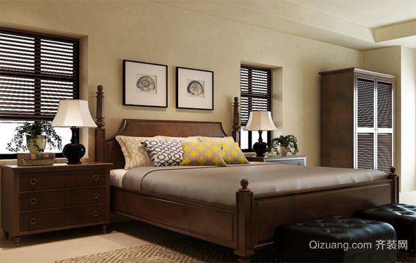 90平米大户型美式卧室装修风格样板房效果图