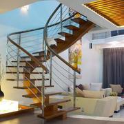 现代124平米跃层阁楼旋转楼梯装修图
