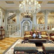 法式奢华风格客厅沙发装饰