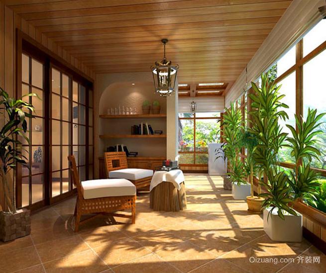 120平米优雅的现代欧式大户型阳光房装修效果图