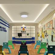 60平米幼儿园教室墙面设计效果图装饰