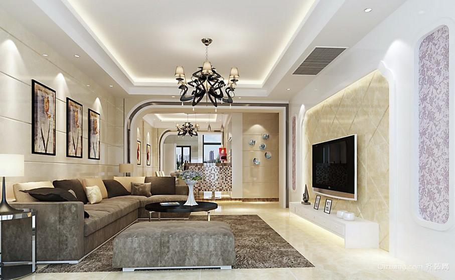 前卫150平米家居客厅灯装修效果图