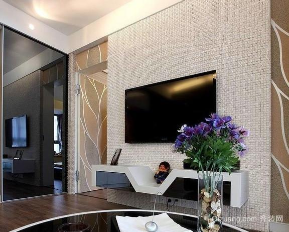 2016年 全新现代化家装客厅 影视墙 装修效果图