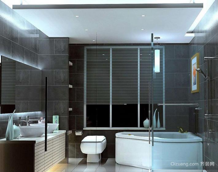都市简约单身公寓卫生间装修设计效果图