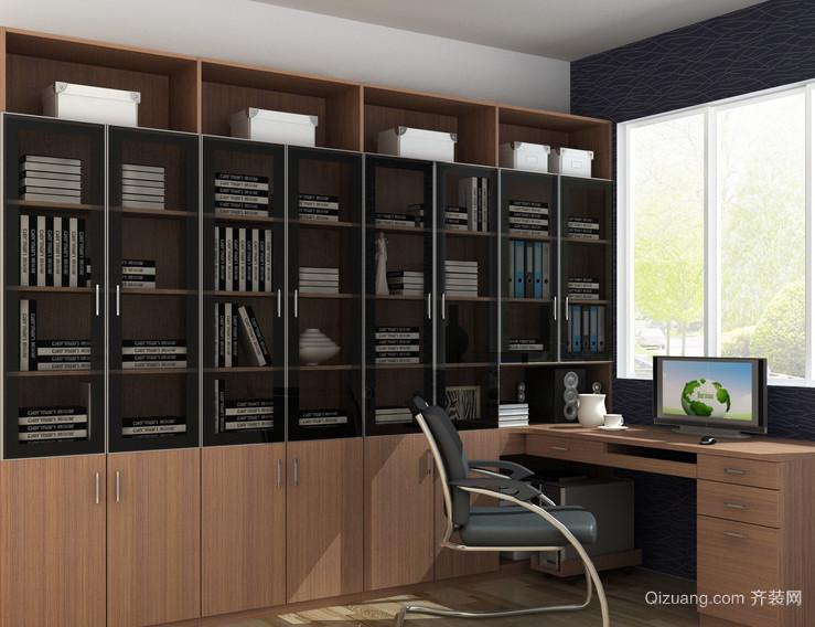 2016现代大户型精美的书房书柜装修效果图实例