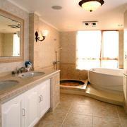 欧式简约风格卫生间浴室柜装饰