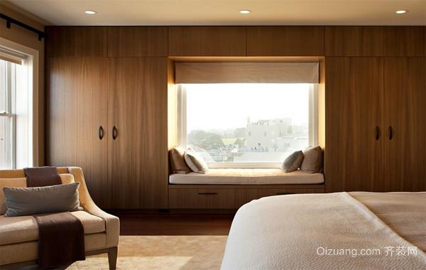 70平米小户型都市宜家欧式卧室飘窗装修效果图