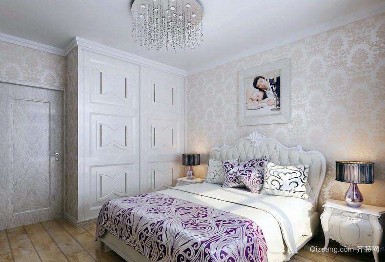 简欧风格145平米新房卧室大衣柜效果图