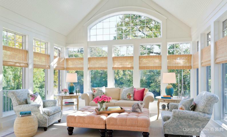 朴素温婉超大型阳光房装修设计效果图