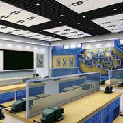 现代简约风格多媒体教室装饰