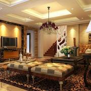 欧式奢华风格客厅灯饰装饰