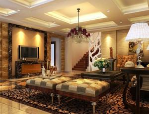 90平米欧式奢华家装客厅装修效果图