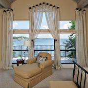 大型别墅内嵌式唯美欧式阳台装修效果图