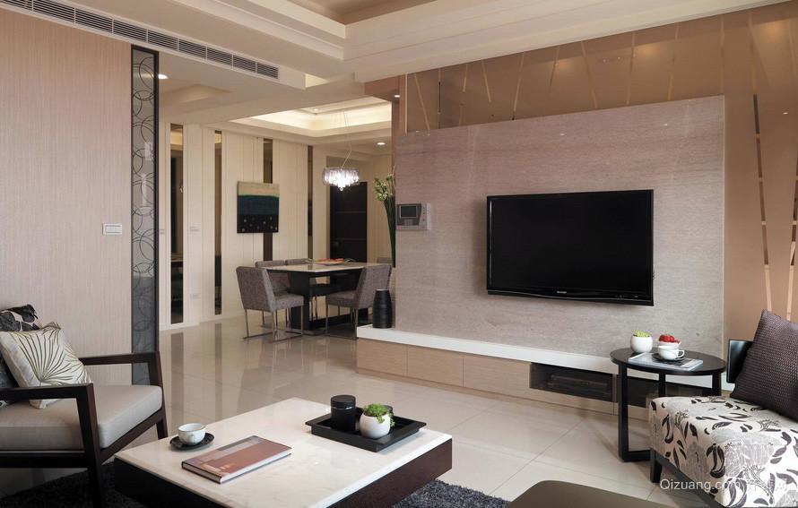 简约100平米家居客厅电视背景墙效果图