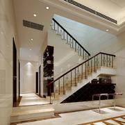 现代豪华别墅阁楼楼梯装修效果图