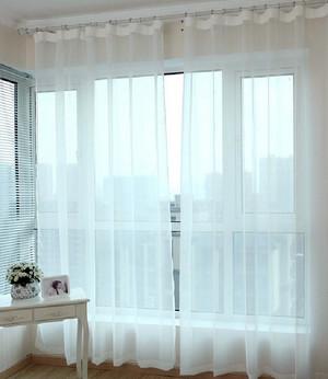 复式楼韩式清新客厅飘窗展示图