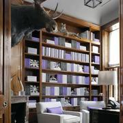 书房整体式书架装修