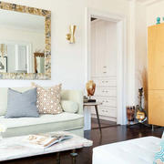 小户型清新风格客厅沙发装饰