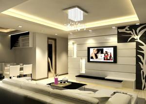 前卫都市小公寓客厅电视背景墙效果图