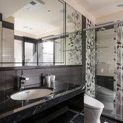 法式风格卫生间玻璃隔断装饰