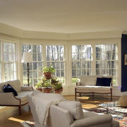 大型客厅简约窗户装饰
