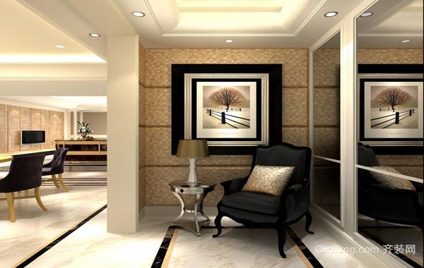 90平米大户型现代唯美欧式客厅玄关装修效果图