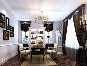 大型别墅法式风格书房装修效果图