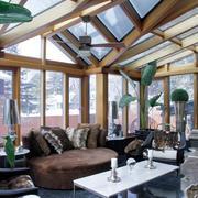 精致别墅阳光房室内装修设计效果图
