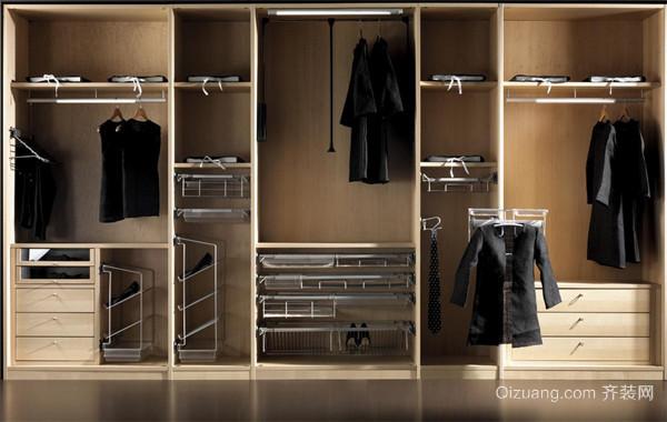 创意别致的欧式风格大户型整体衣柜装修效果图