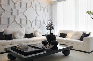 前卫大气小户型公寓客厅装修设计实例