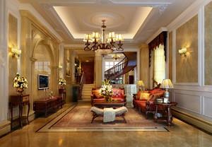 2016欧美风格小别墅客厅设计效果图