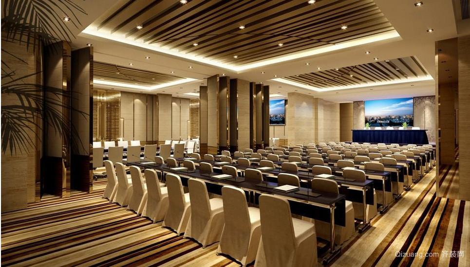 超级大型豪华会议室设计效果图