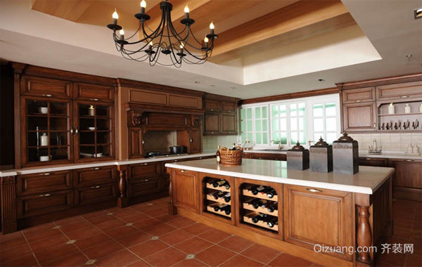 120平米大户型欧式风格厨房背景墙装修效果图
