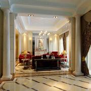 简欧式365平米别墅地板设计效果图