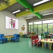 大型幼儿园卡通风格墙面装修效果图