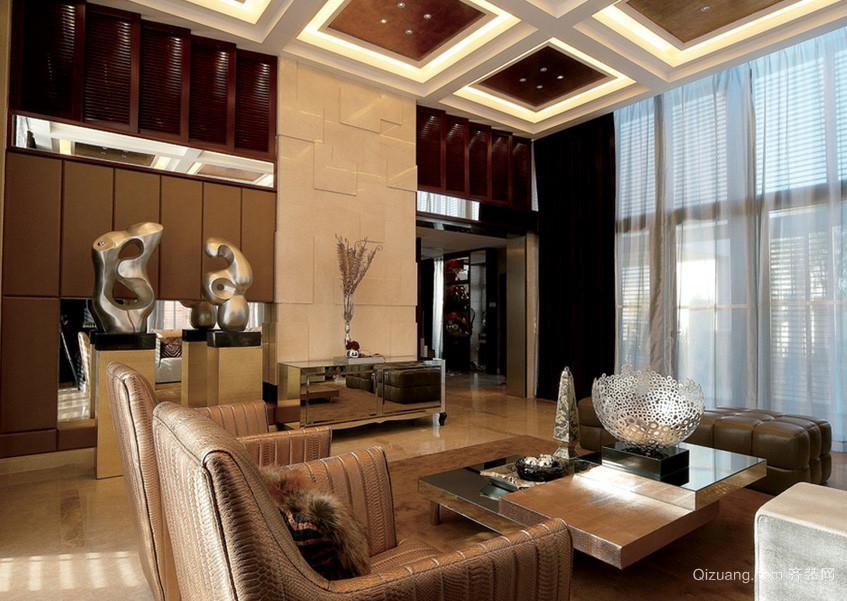 豪华复式楼家庭客厅装修设计效果图