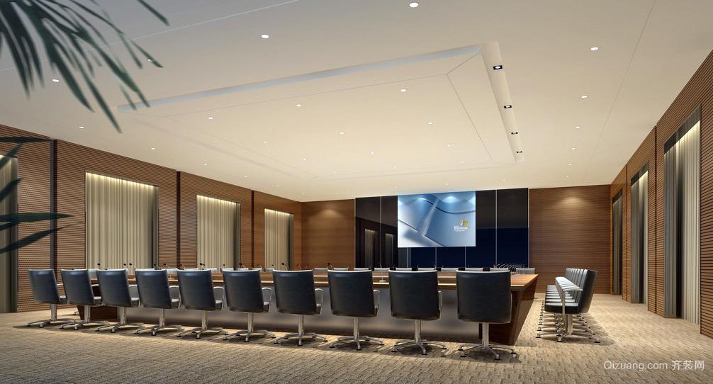都市豪华大企业会议室设计效果图