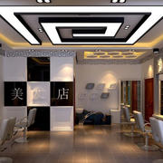 40平米现代时尚小型发廊装修效果图