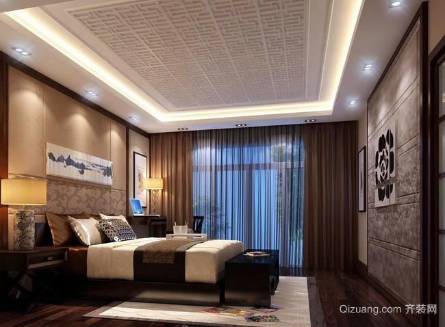 大型复式楼中式风格卧室装修效果图