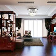 两室一厅中式老房屋客厅装修设计图