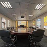 都市现代化20平米会议室设计效果图