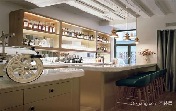 100平米大户型优雅的欧式餐厅吧台装修效果图