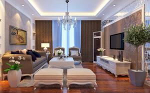 简欧风格120平米家居客厅装修效果图