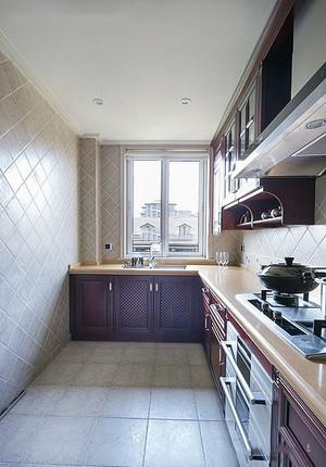 恬静岁月:家庭厨房20平精装效果图