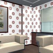 80平米现代简约风格客厅液体壁纸装修图