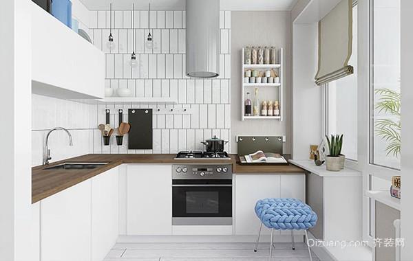 北欧黎明:家庭小户厨房装修效果图