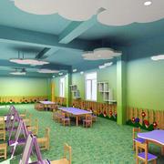大型幼儿园色彩斑斓的教室室内装修图